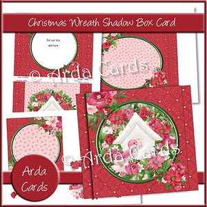 Christmas Wreath Shadow Box Card - The Printable Craft Shop