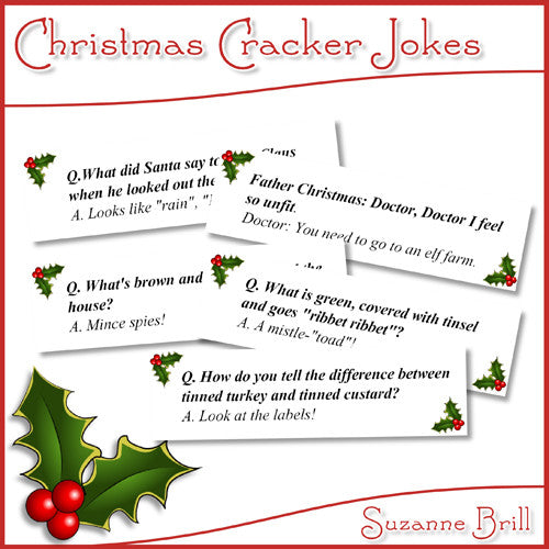 Christmas Cracker Jokes - The Printable Craft Shop
