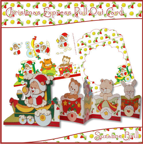 Christmas Express Pull Out Card - The Printable Craft Shop