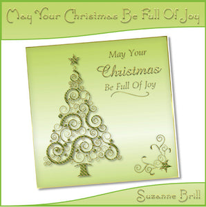 May Your Christmas Be Full Of Joy Card Front - The Printable Craft Shop