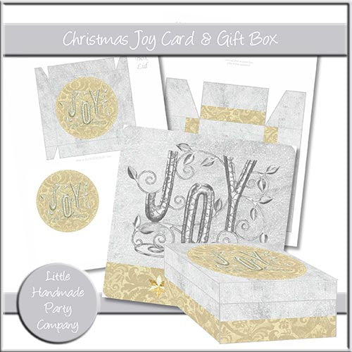 Christmas Joy Card And Gift Box - The Printable Craft Shop