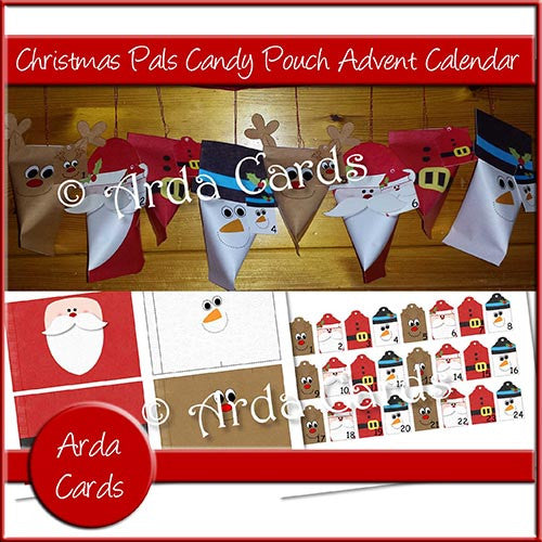 Christmas Pals Candy Pouch Advent Calendar - The Printable Craft Shop