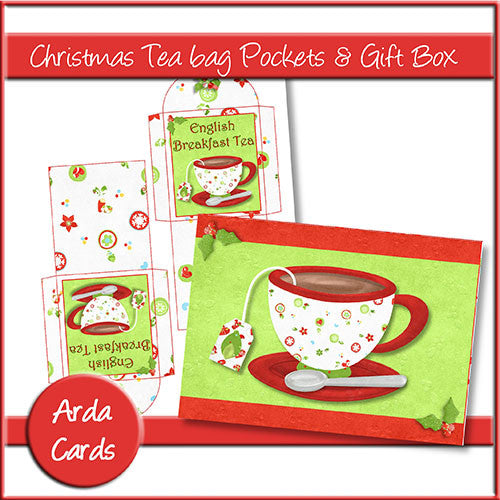 Christmas Teabag Pockets & Gift Box - The Printable Craft Shop