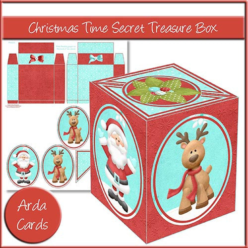 Christmas Time Secret Treasure Box - The Printable Craft Shop