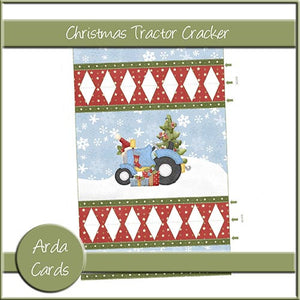 Christmas Tractor Cracker - The Printable Craft Shop