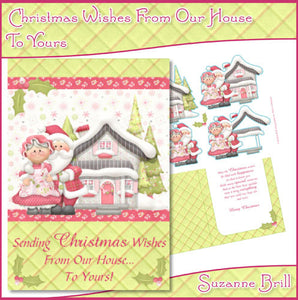 Christmas Wishes From Our House To Yours C5 Card - The Printable Craft Shop
