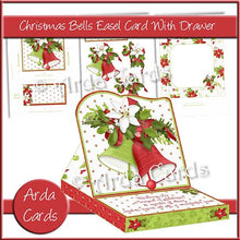 Load image into Gallery viewer, Christmas Bells Easel Card With Drawer - The Printable Craft Shop