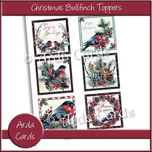Christmas Bullfinch Toppers Printable