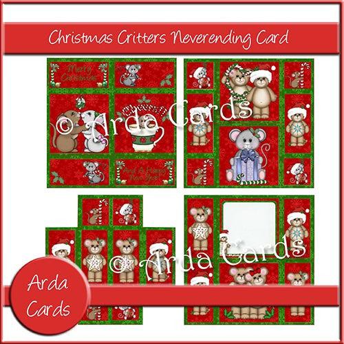 Christmas Critters Neverending Card - The Printable Craft Shop