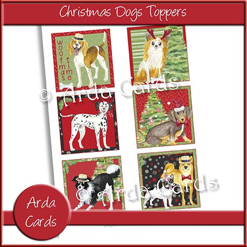 Christmas Dogs Toppers Printable