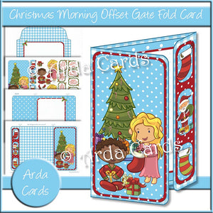 Christmas Morning Offset Gate Fold Card