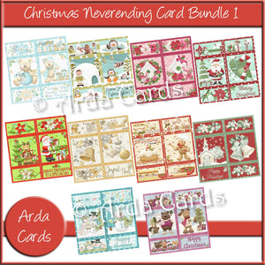 Christmas Neverending Card Bundle 1 Printable