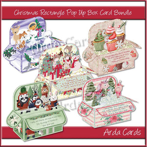 Printable Christmas Pop Up Box Card Bundle