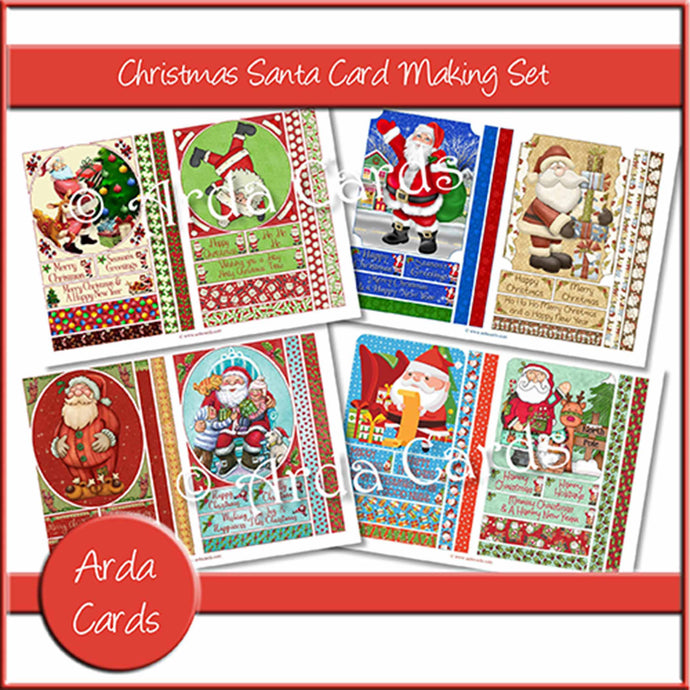 Christmas Santa Card Making Set Printable