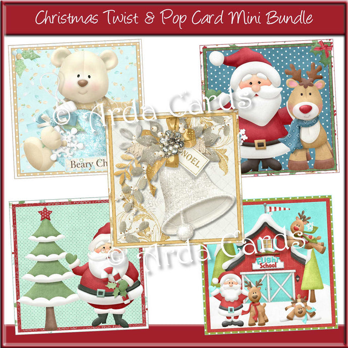 Christmas Twist & Pop Card Mini Bundle Printable