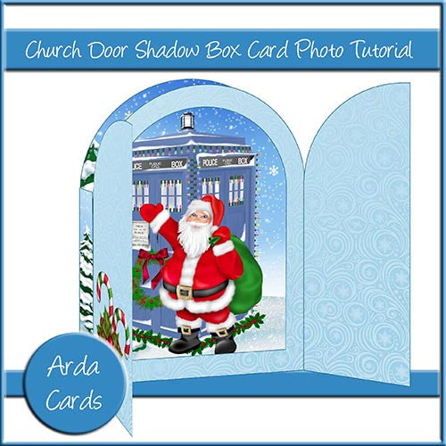 Church Door Shadow Box Card Photo Tutorial - The Printable Craft Shop