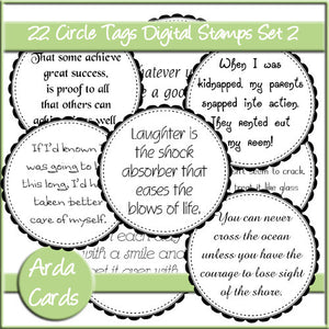 CU Circle Tags Digital Stamps Set 2 - The Printable Craft Shop
