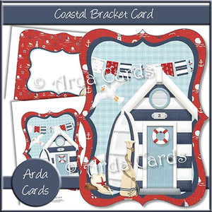 Coastal Bracket Card - The Printable Craft Shop