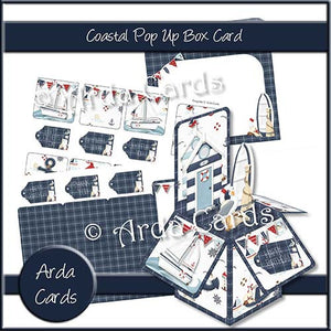 Coastal Pop Up Box Card - The Printable Craft Shop