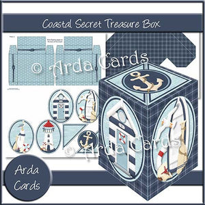 Coastal Secret Treasure Box - The Printable Craft Shop