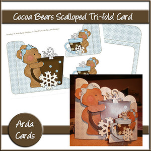 Cocoa Bears Tri-Fold Card - The Printable Craft Shop
