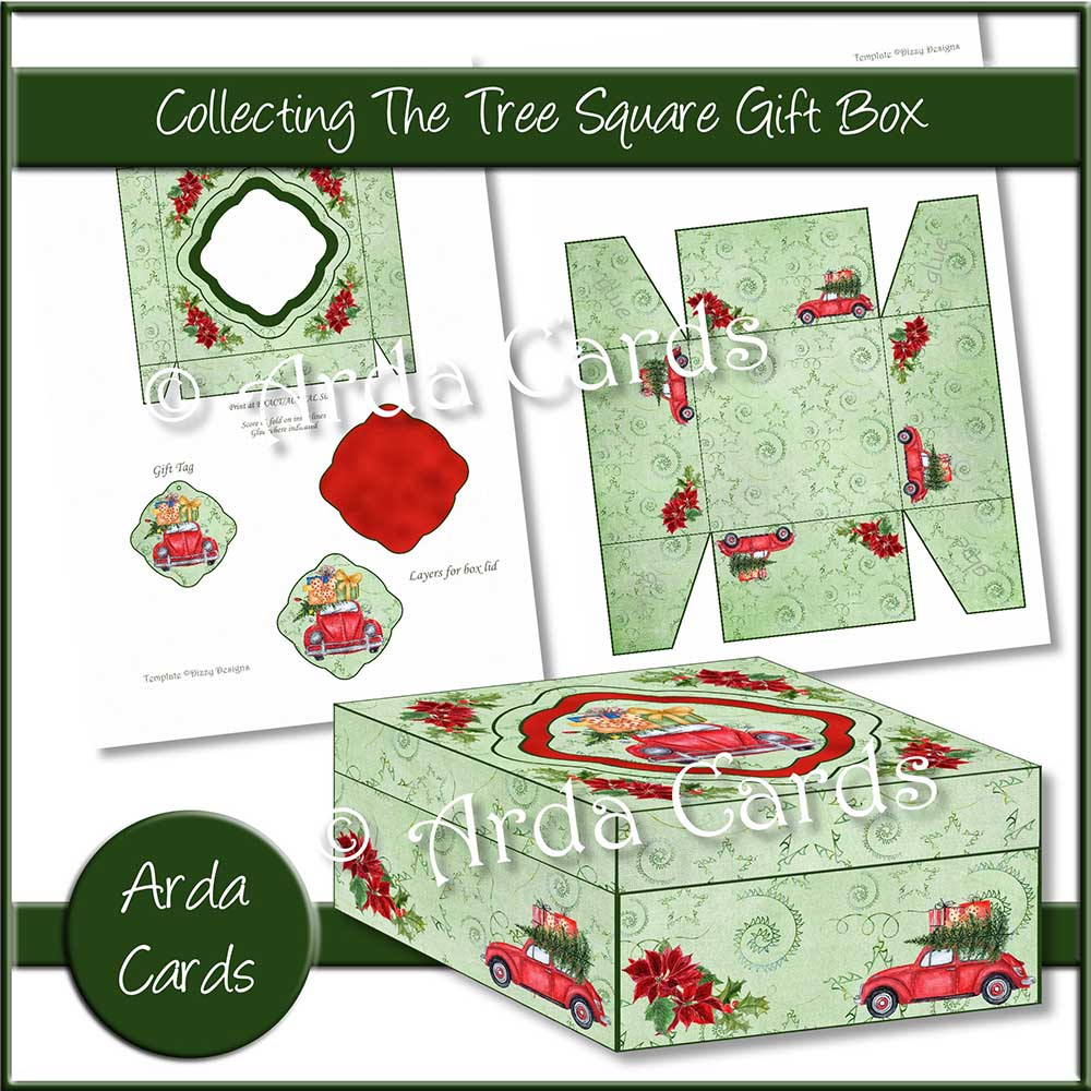 Collecting The Tree Square Gift Box Printable