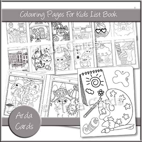 Colouring Pages For Kids List Book