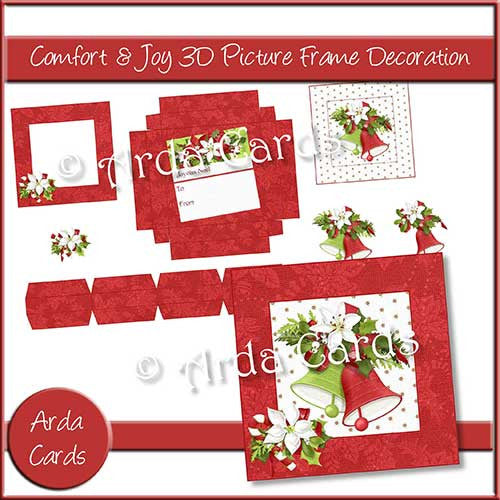 Comfort & Joy 3D Picture Frame Printable Decoration - The Printable Craft Shop