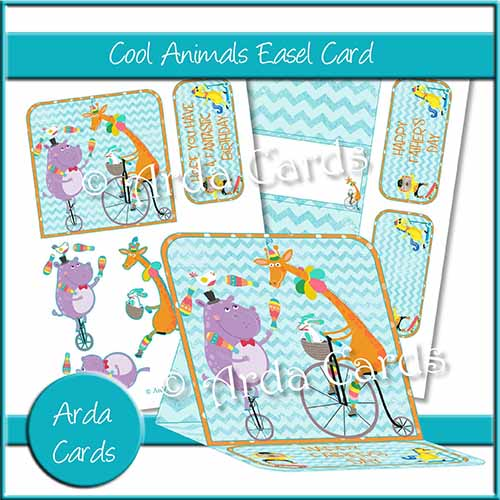 Cool Animals Easel Card