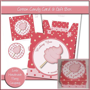 Cotton Candy Birthday Card & Gift Box - The Printable Craft Shop