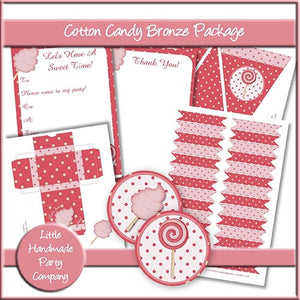 Cotton Candy Bronze Party Set - The Printable Craft Shop