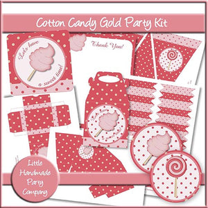 Cotton Candy Gold Party Set - The Printable Craft Shop
