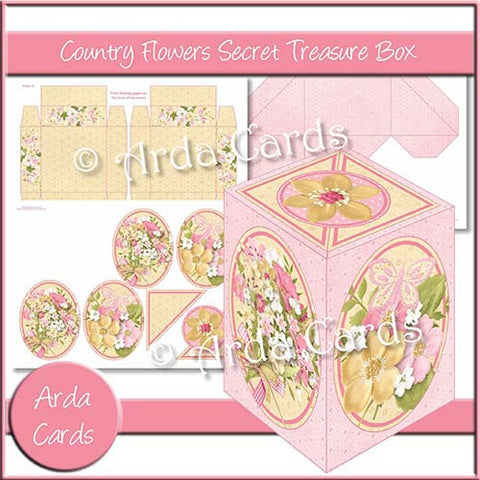 Country Flowers Secret Treasure Box