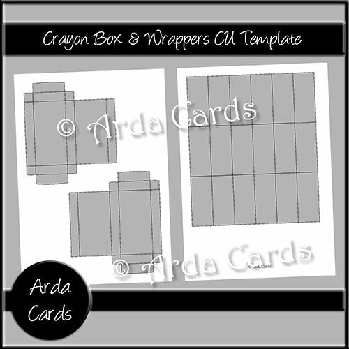Crayon Box & Wrappers CU Template - The Printable Craft Shop