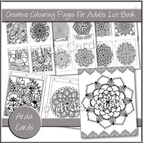 Creative Colouring Pages For Adults List Book