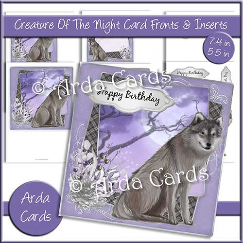 Creature Of The Night 7.4in & 5.5in Card Fronts & Inserts