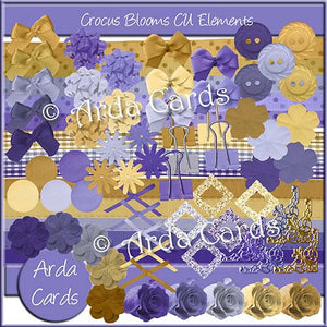 Crocus Bulbs CU Elements - The Printable Craft Shop