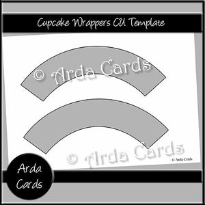 Cupcake Wrappers CU Template - The Printable Craft Shop