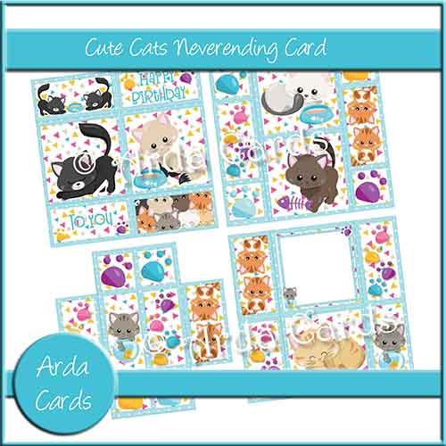 Cute Cats Neverending Card