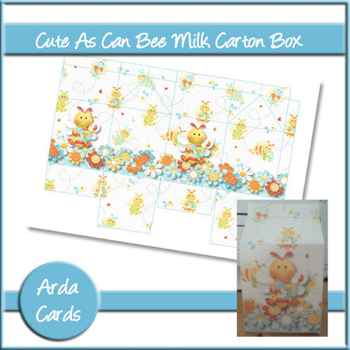 Cute As Can Bee Milk Carton Box - The Printable Craft Shop