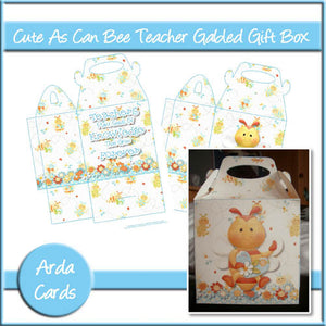 Cute As Can Bee Teacher Gabled Gift Box - The Printable Craft Shop