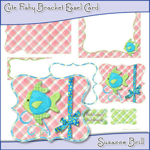 Cute Fishy Bracket Easel Card - The Printable Craft Shop