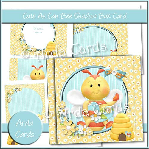 Cute As Can Bee Shadow Box Card - The Printable Craft Shop