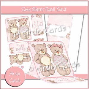 Cute Bears Easel Card