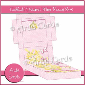 Daffodil Dreams Mini Pizza Box