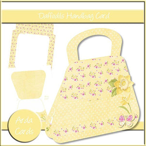 Daffodils Handbag Card - The Printable Craft Shop