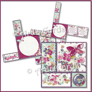 Daily Flowers 4 Fold Flap Card - The Printable Craft Shop - 2