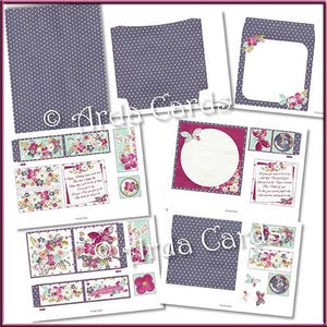 Daily Flowers 4 Fold Flap Card - The Printable Craft Shop - 3