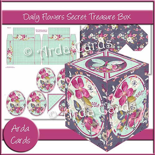 Daily Flowers Secret Treasure Box - The Printable Craft Shop