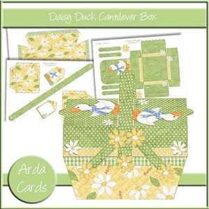 Daisy Duck Cantilever Box - The Printable Craft Shop